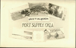 Greetings From Fort Supply Postcard