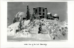 Winter View Of The Lick Observatory