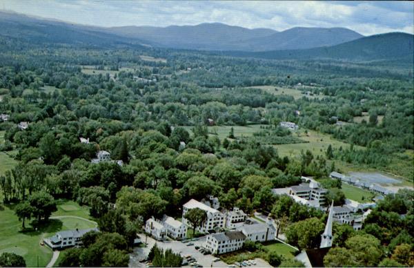 Aerial View Of Manchester Vermont