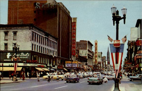 View Of Main Street In Downtown Buffalo New York