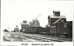 Elevators At Lakota Postcard