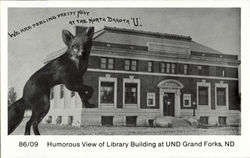 Humorous View Of Library Building At Und Grand Forks