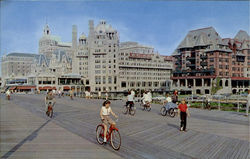 Bicycling On The Boardwalk