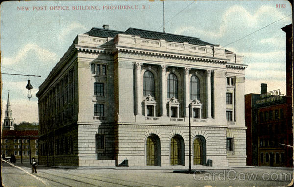 New Post Office Building Providence Rhode Island
