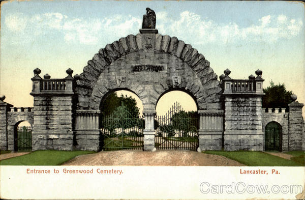 Entrance To Greenwood Cemetery Lancaster Pennsylvania