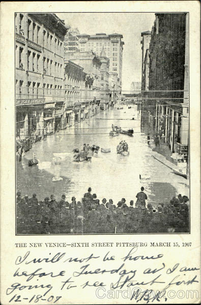 The New Venice, Sixteh Street Flood Pittsburgh Pennsylvania