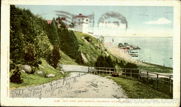 Old Fort And Harbor, M Mackinac Island Michigan
