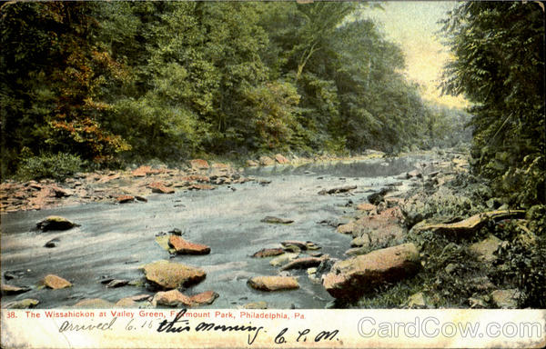The Wissahickon At Valley Green, Farmount Park Philadelphia Pennsylvania