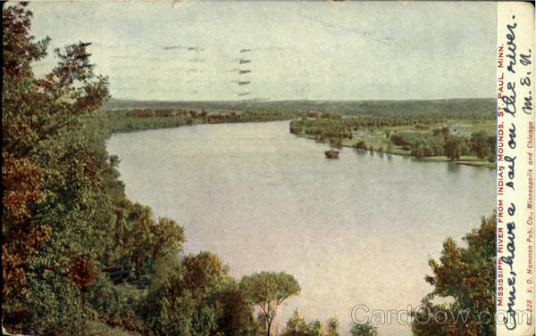 Mississippi River From Indian Mounds St. Paul Minnesota