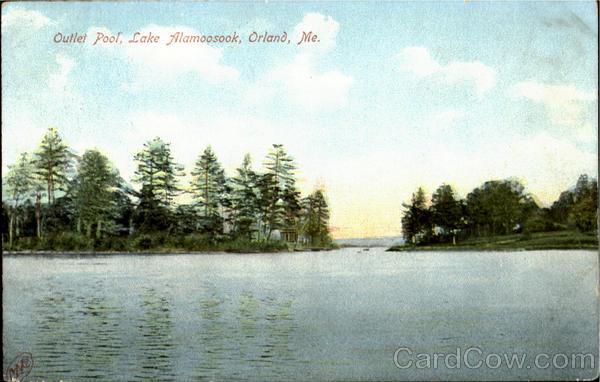 Outlet Pool, Lake Alamoosook Orland Maine