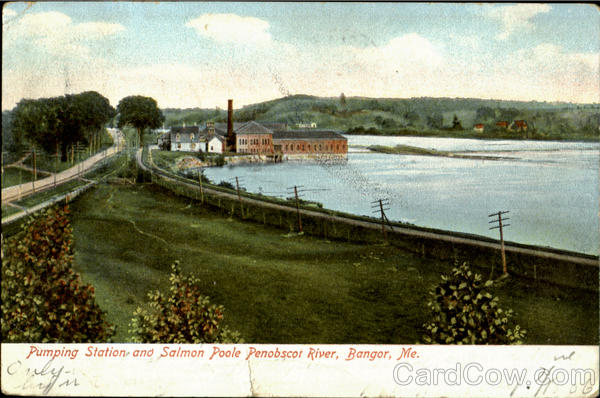Pumping Station And Salmon Poole Penobscot River Bangor Maine