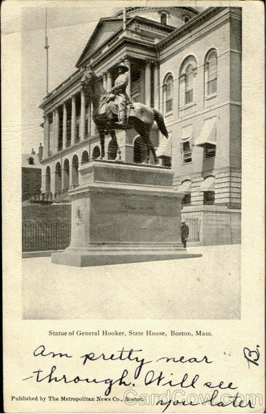 Statue Of General Hooker, State House Boston Massachusetts