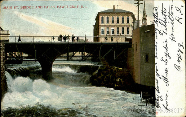 Main St. Bridge And Falls Pawtucket Rhode Island