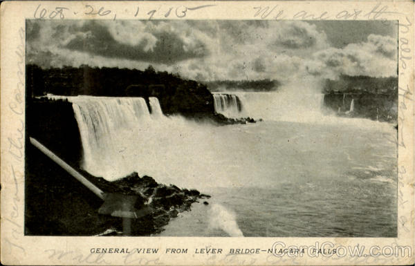 General View From Lever Bridge Niagara Falls New York