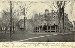 Connecticut Literary Institution Postcard