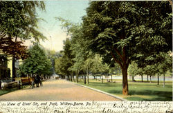 View Of River Street And Park
