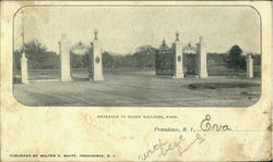 Entrance To Roger Williams Park Postcard