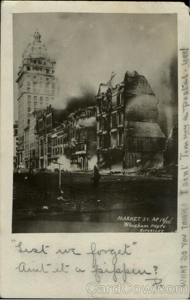 1906 Market St After Earthquake San Francisco California