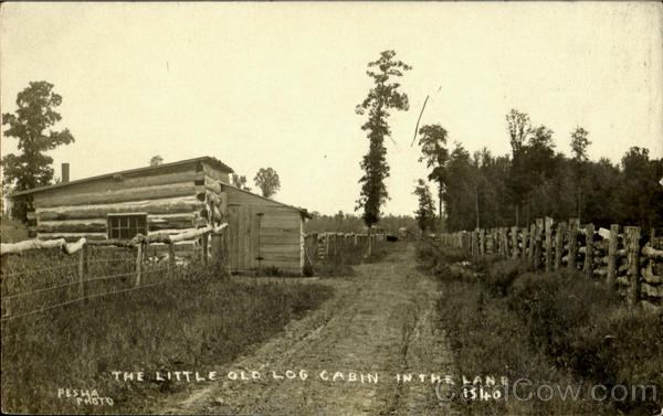 The Little Old Log Cabin In The Lane Buildings