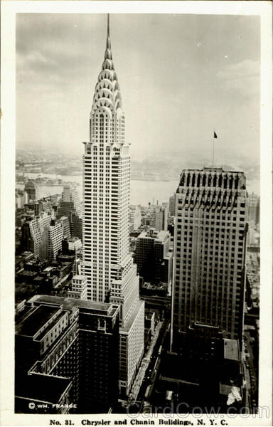 Chrysler And Chanin Buildings New York City