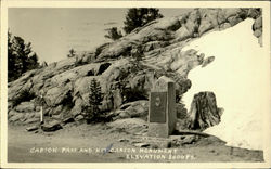 Carson Pass And Kit Carson Monument