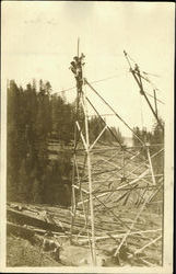 High Tension Power Lines Construction