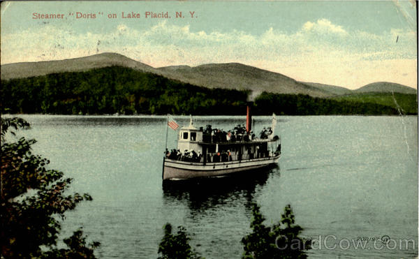 Steamer Doris On Lake Placid New York