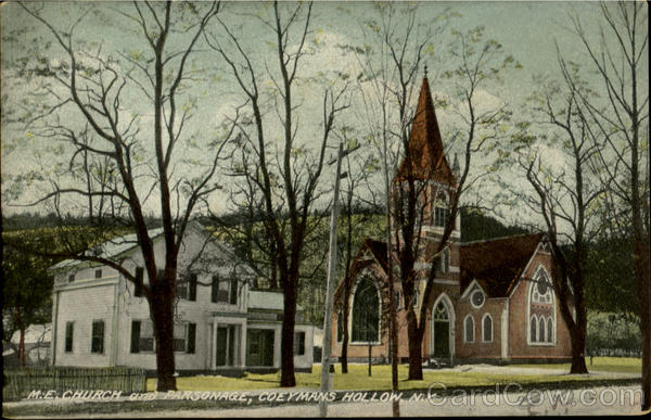 M. E. Church And Parsonage Coeymans Hollow New York