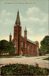 St. Agatha's R. C. Church Postcard
