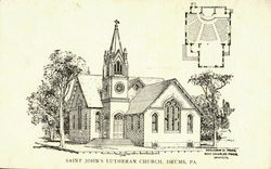 Saint John's Lutheran Church Postcard