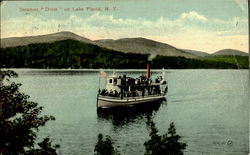 Steamer Doris On Lake Placid