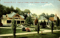 Chapel And Cottages Cottage Sanitarium Postcard