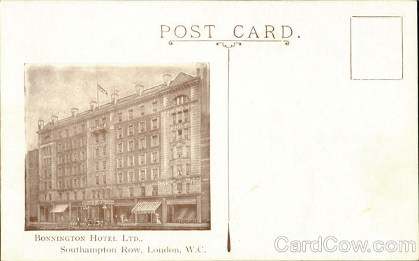 BONNINGTON HOTEL LTD, Southampto Row London England