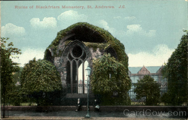 Ruins of Blackfriars Monastery, St.Andrews England