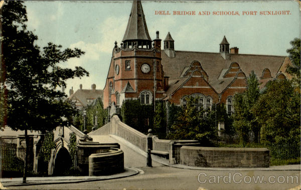 Dell Bridge And Schools Port Sunlight England Merseyside