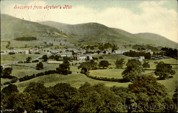 Sedbergh from Aroher's Hill England