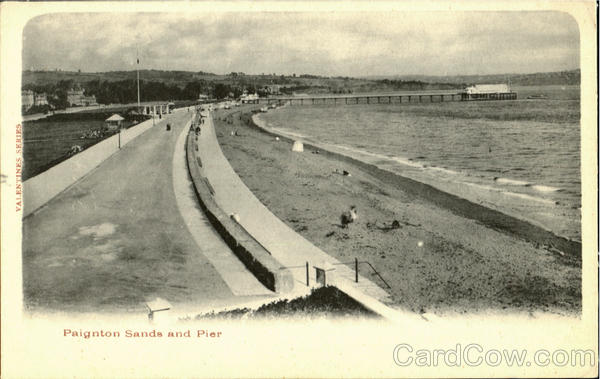 Paignton Sands and Pier England