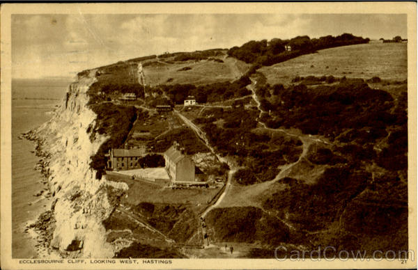 Ecclesbourne Cliff, Looking West Hastings England