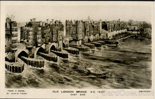 Old London Bridge East Side England