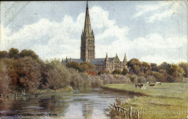 Salisbury Cathedral,From The River England