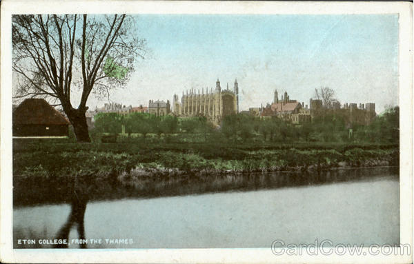 Eton Collge,From The Thames. England