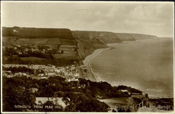 Sidmouth From Reak Hill England