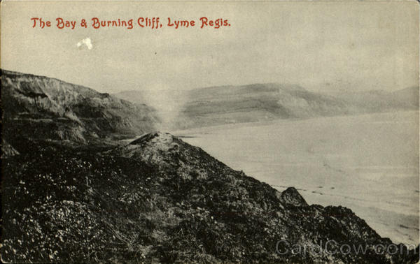 The Bay & Burning Cliff Lyme Regis England
