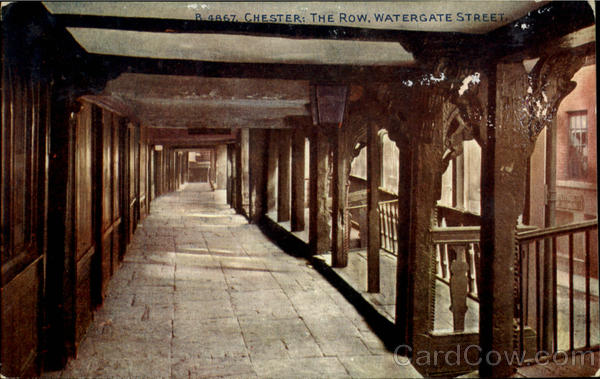 Chester:The Row,Watergate Street England