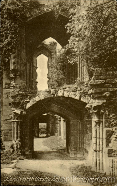 Kenilworth Castle,Entrance to the great Hall England