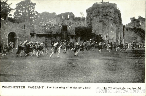WINCHESTER PAGENT:The Storming of Wolcesey Castle England