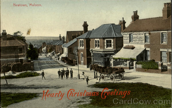 Hearty Christmas Greetings.Newtown Malvern England