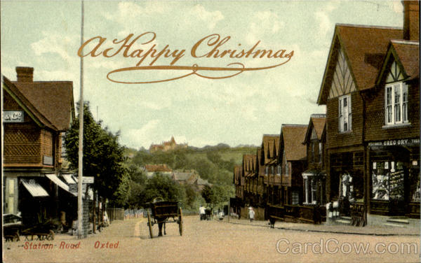 a Happy Christmas, Statio Road Oxted England