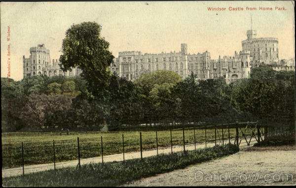Windsor Castle from Home Park England