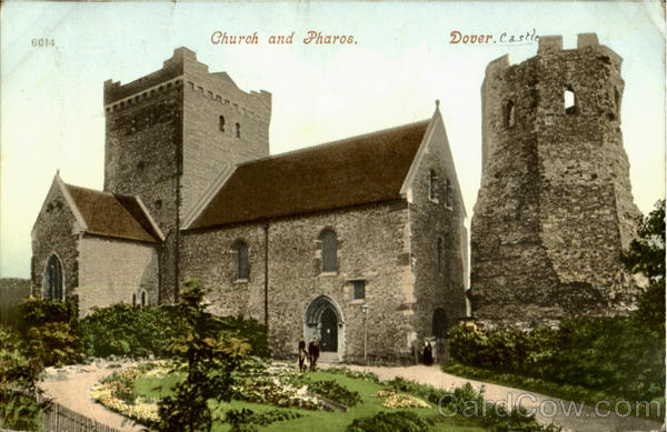 Church and Pharos, Dover Castle England